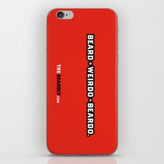 BEARD + WEIRDO = BEARDO. iPhone & iPod Skin