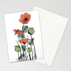 Poppies in Color Stationery Cards