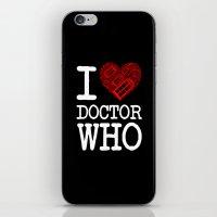 I Love Doctor Who (Tardi… iPhone & iPod Skin