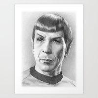 Spock - Fascinating (Star Trek TOS) Art Print