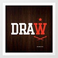 DRAW Art Print