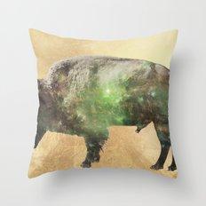 Surreal Buffalo Throw Pillow