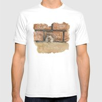 Afraid (Embrace) Mens Fitted Tee White SMALL