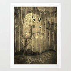 The Hobby Horse Art Print