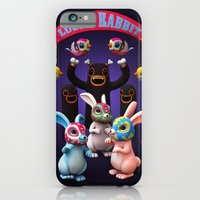 iPhone Cases featuring Lucha Rabbit by Teodoru Badiu