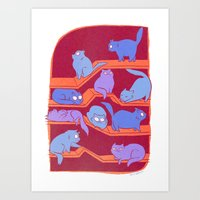 Cat Path Art Print