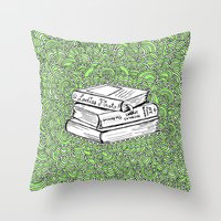 Book Drawing Meditation … Throw Pillow