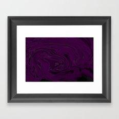 black and purple swirls  Framed Art Print