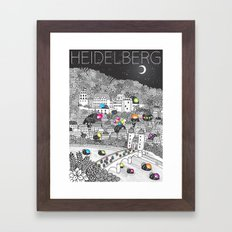 Locals Only - Heidelberg, Germany Framed Art Print