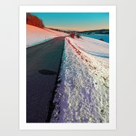 Winter Road In Vibrant C… Art Print
