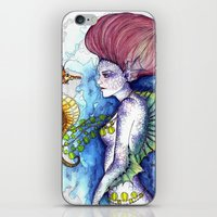 the seahorse's friend iPhone & iPod Skin