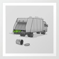Accident on Sesame St.  Art Print