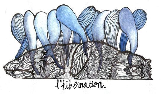 L'hibernation Art Print