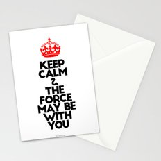 Keep Calm and The Force May be with you - by Genu WORDISIAC™ TYPOGY™ Stationery Cards