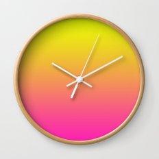 PINK & YELLOW FADE Wall Clock