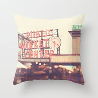 6:20. Seattle Pike Place… Throw Pillow