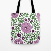 Mauve Raspberry Wildflow… Tote Bag