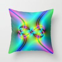 Neon Love Knots Throw Pillow