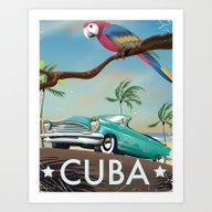 Cuba Vintage Travel Post… Art Print