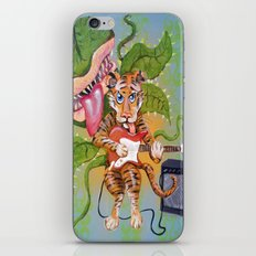 Guitar Playing Tiger with Audrey iPhone & iPod Skin