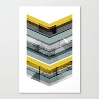 Grey & Yellow Chevron Canvas Print