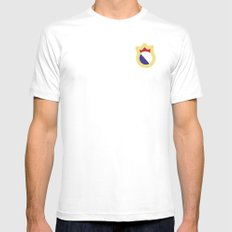 logo madrid White Mens Fitted Tee SMALL