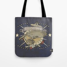 USS ENTERPRISE STAR TREK TATTOO PRINT Tote Bag