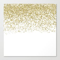 Sparkling Golden Glitter… Canvas Print