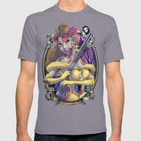Zombie Beauty And The Be… Mens Fitted Tee Slate SMALL