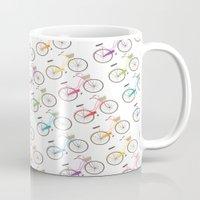 Rainbow Bicycles Mug