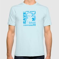 Save the Wampa Mens Fitted Tee Light Blue SMALL