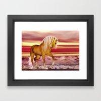 HORSE - Palomino Framed Art Print