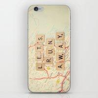 let's run away iPhone & iPod Skin