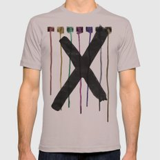 The Taciturn. Mens Fitted Tee Cinder SMALL