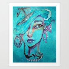 Pearl's Water Ways Art Print