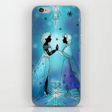 Silhouette Anna and Elsa  iPhone & iPod Skin