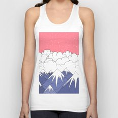 The mountains and the clouds Unisex Tank Top