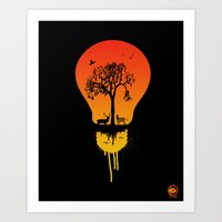 The Two Worlds Art Print