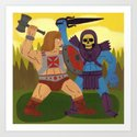 Good Versus Evil Art Print