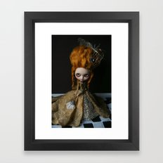 BAROQUE MARIE ANTOINETTE BLYTHE ART DOLL GOLD Framed Art Print