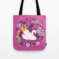Delightful Swan Tote Bag