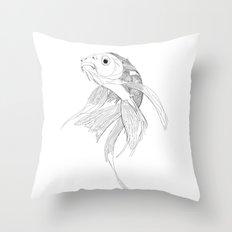 Fish illustration Throw Pillow