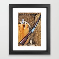 Winchester Rifle Framed Art Print