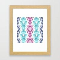 Batik Damask Framed Art Print