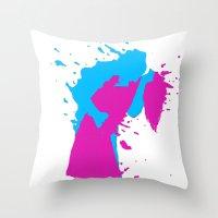 K I S S 3D Throw Pillow