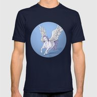 Pegasus Mens Fitted Tee Navy SMALL