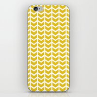 Mustard Chevron iPhone & iPod Skin