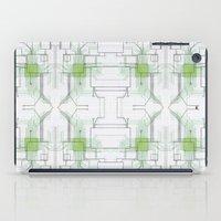 Circuit board green repeat iPad Case