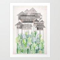 Stilts Art Print