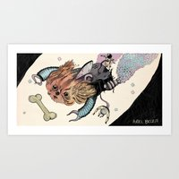 Space Pekingese Art Print